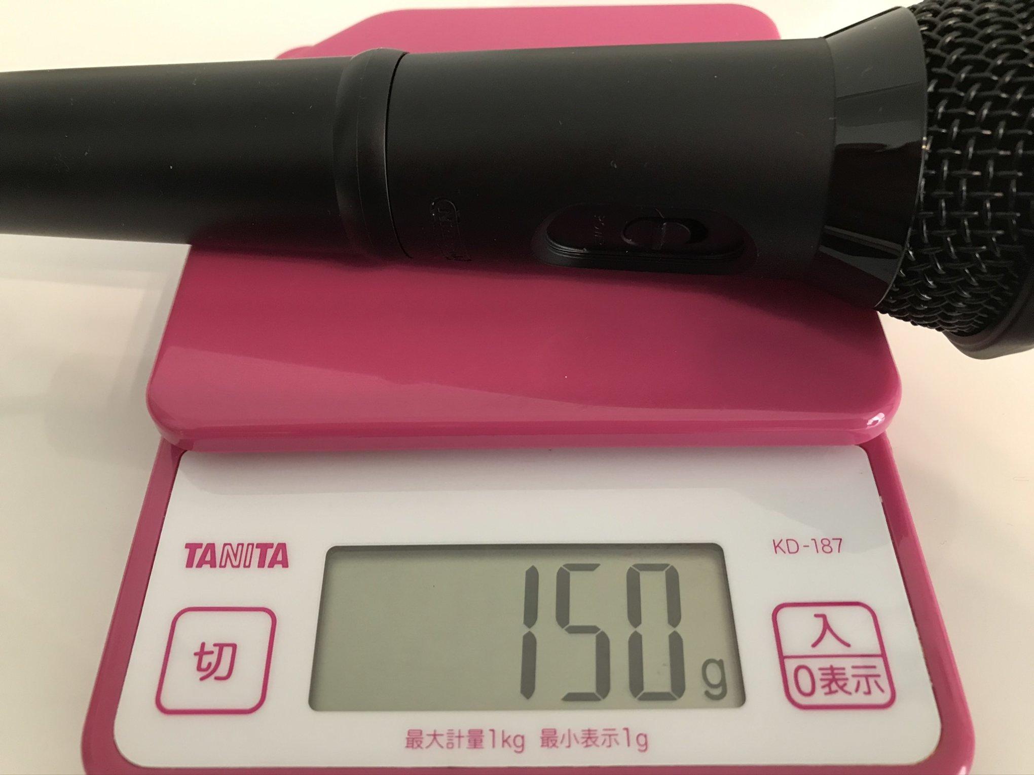 任天堂純正USBマイク重さ(150g)