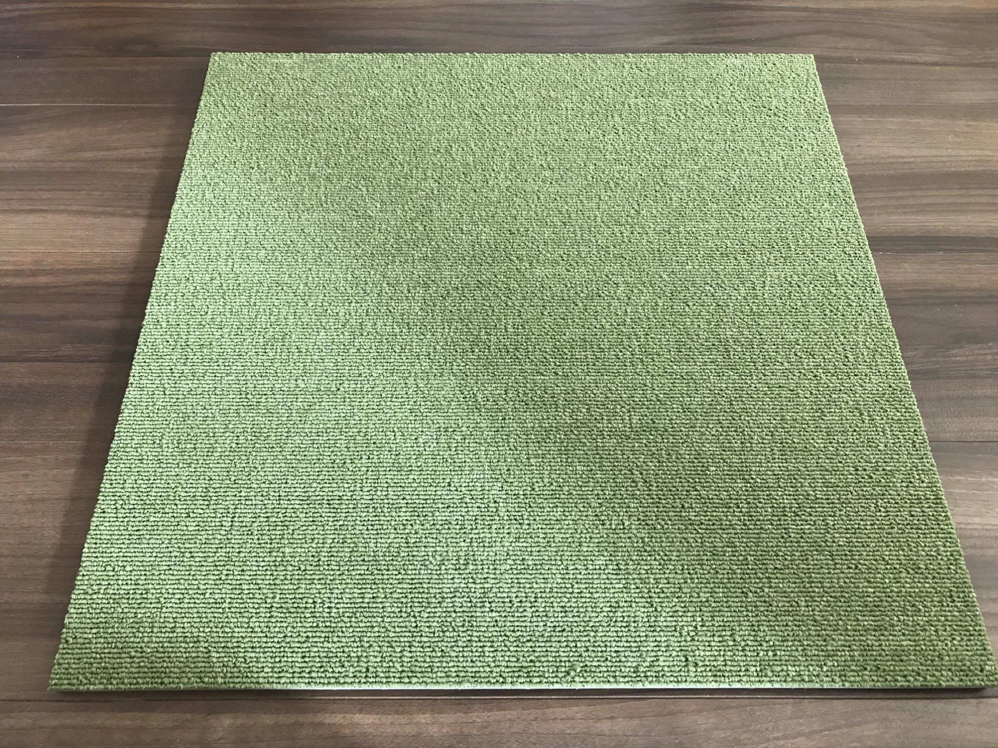 ニトリタイルカーペット黄緑