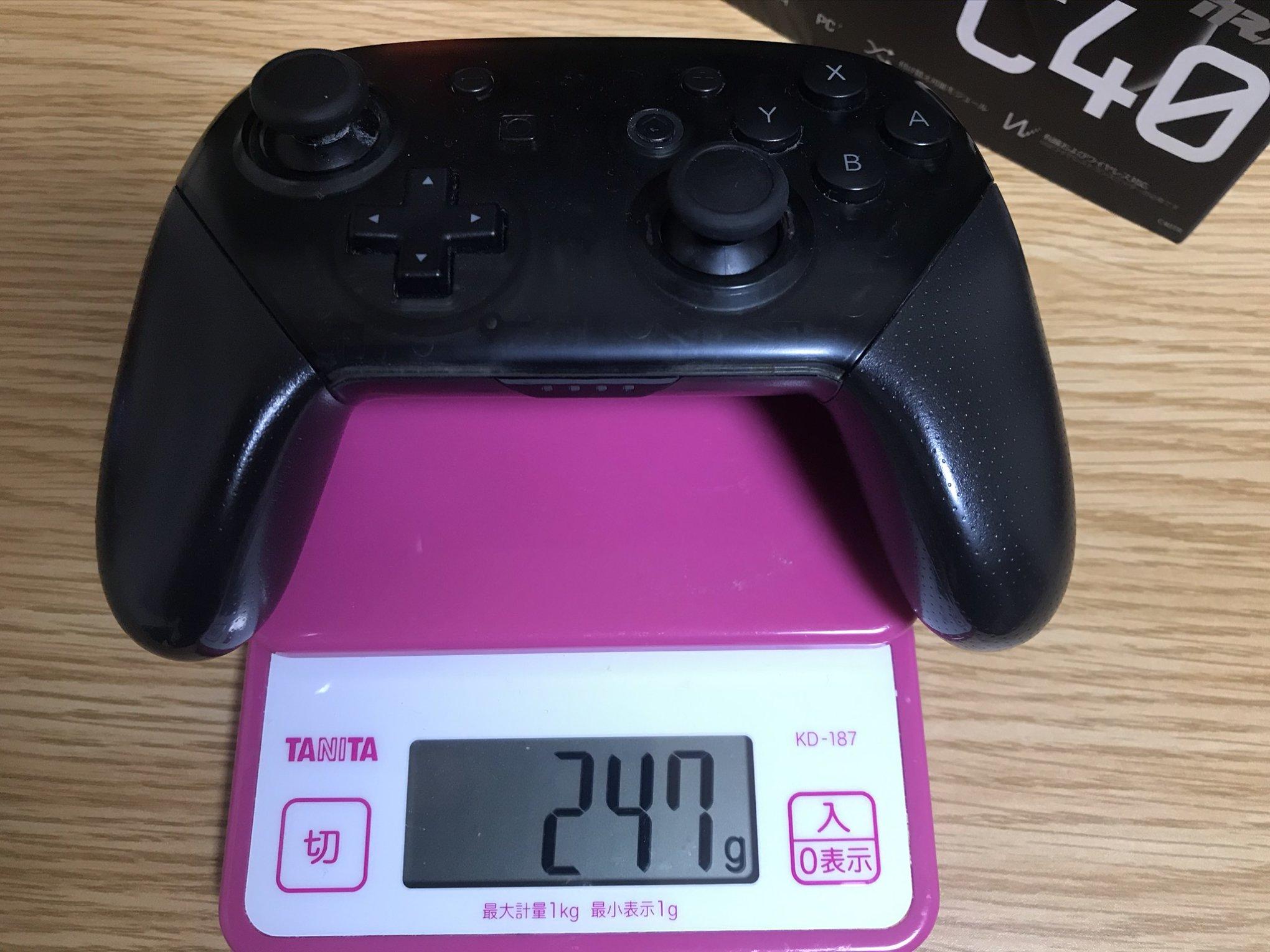 スイッチプロコン重量(247g)