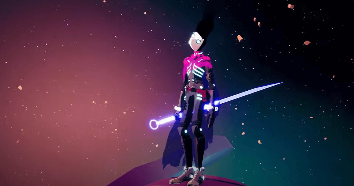 SOLAR ASHで光る剣を持つ主人公