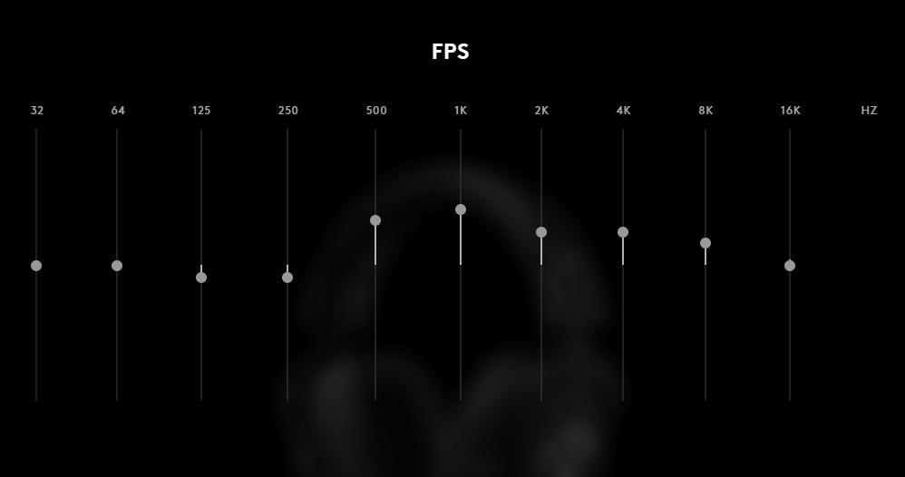 ロジクールG PRO X WIRELESSのイコライザー(FPS)